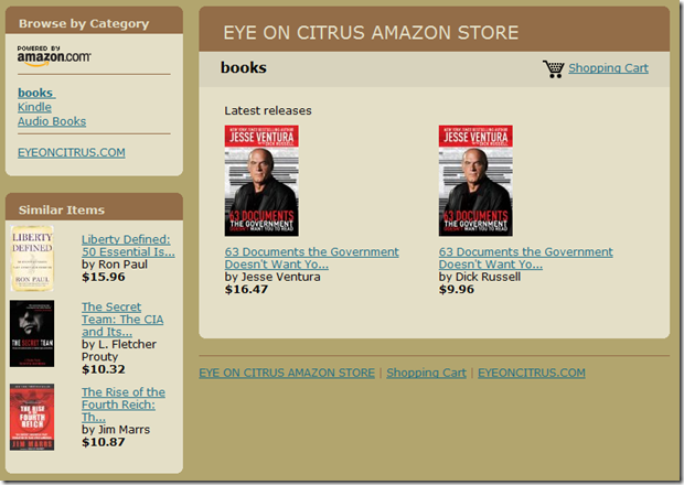 CLICK HERE TO GO TO OUR AMAZON STORE FOR JESSE VENTURA!