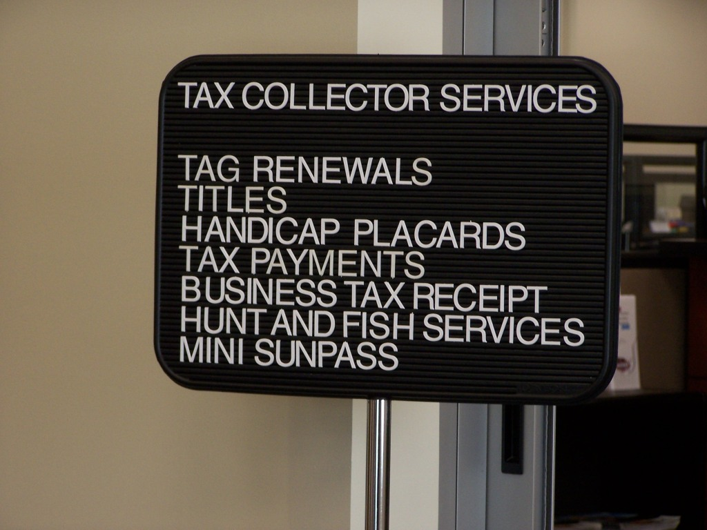 TASKS THE TAX COLLECTOR'S OFFICE CAN COMPLETE FOR YOU!
