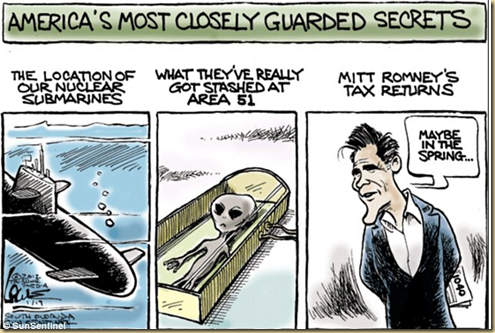 America's Guarded Secrets Romney's Income
