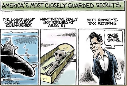 America's Guarded Secrets Romney's Income