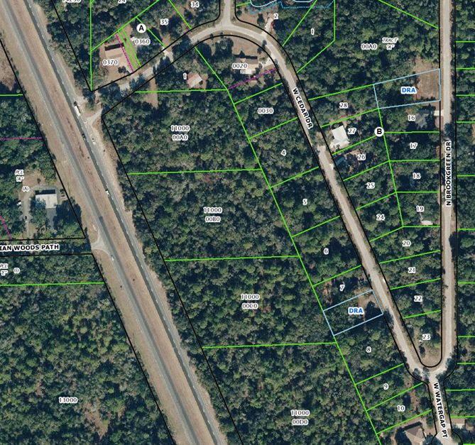 This is Cedar Lake Dr although the map say Cedar Drive EYEONCITRUS.COM