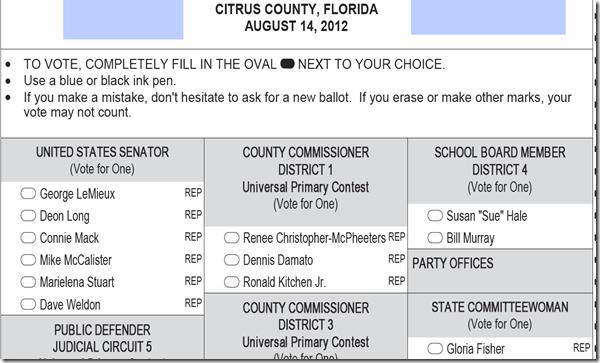 Sample Ballot Aug 14 2012 Election