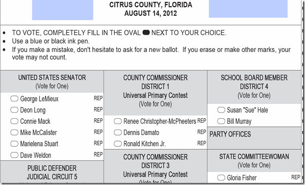 Sample Ballot Aug 14 2012 Election