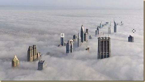 Dubai. The view from the skyscraper BurjKhalifa  EYEONCITRUS.COM