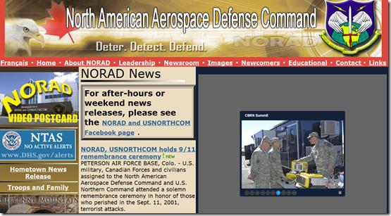 NORAD  North American Aerospace Defense Command