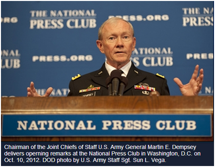 The Joint Chief of Staff, U.S. Army General Martin E. Dempsey