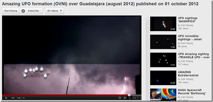 Amazing UFO forrmation over Guadalajara August 2012 published Oct 1 2012 EYEONCITRUS.COM