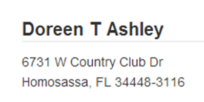 Doreen T Ashley Left for Dead Hit and Run Homosassa FL   EYEONCITRUS.COM