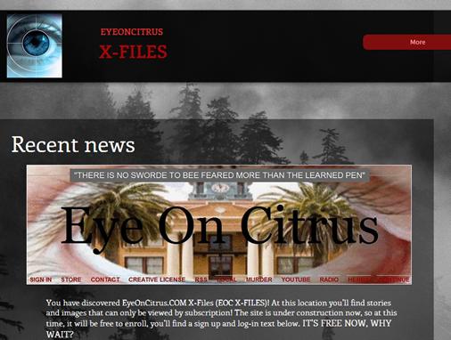 EOC X-FILES     EYEONCITRUS.COM
