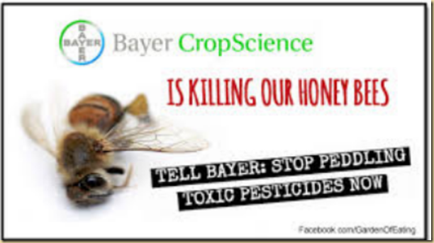 Corporation Bayer and others destroying Honey Bees when gone Humans 4 years left alive  EYEONCITRUS.COM