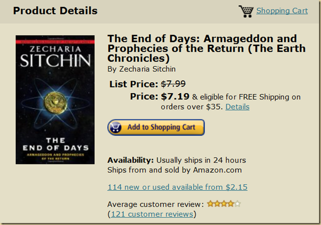 THE END OF DAYS ZECHARIA SITCH;IN     EYEONCITRUS.COM