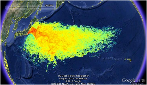 Radiation from 2001 Earthquake and t