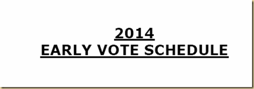 EARLY VOTING SCHEDULE CITRUS COUNTY FL 2014    eyeoncitrus.com