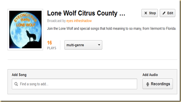 Listen to a compliation of some of Lone Wolf's Favorites, from Florida to Vermont  EYEONCITRUS.COM