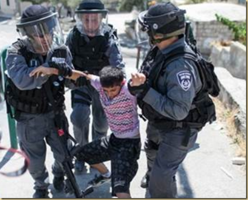 5 year old Arab boy arrested in Israel