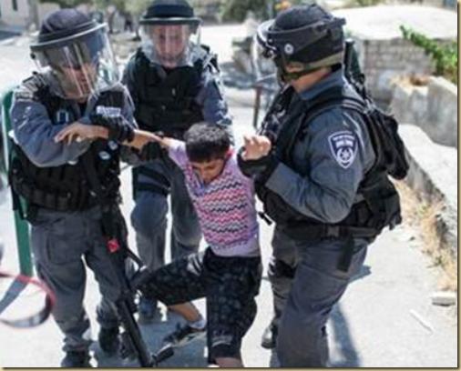 5 year old Arab boy arrested in Israel