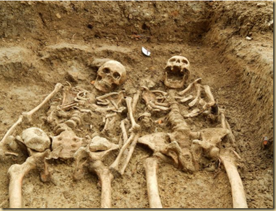 Archaeologists discovered skeletons which appear to be holding hands during an excavation at the Chapel of St. Morrell in Leicestershire, England, a site of pilgrimage during the 14th Century.