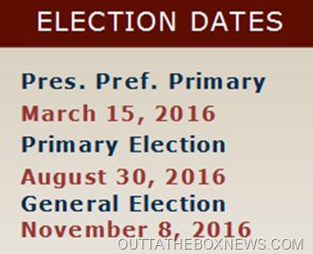 ELECTION DATE 2016 FLORIDA #OUTTATHEBOXNEWSDOTCOM