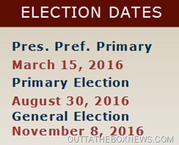 ELECTION DATE 2016 FLORIDA #OUTTATHEBOXNEWSDOTCOM