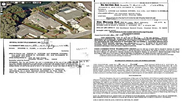 All information in this article is public information available on citrus county property appraisers and clerk of courts websites.